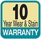 10 year wear and stain warranty carpet